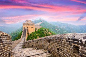 Great Wall of China, Asia at the Jinshanling section.